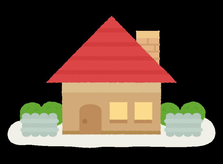 赤い屋根の平屋 アイキャッチ用