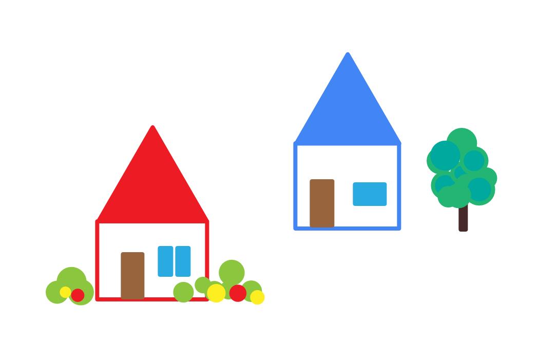 2軒の小さな家